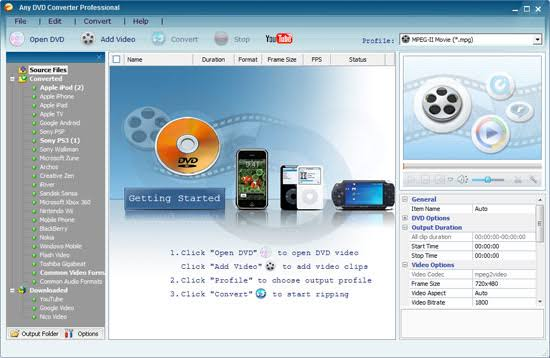 Any DVD Converter Pro 7.1.1 Crack With License Key Free Download